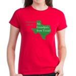 Grandpa's From Texas Women's Dark T-Shirt