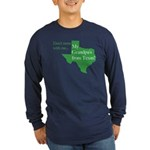 Grandpa's From Texas Long Sleeve Dark T-Shirt