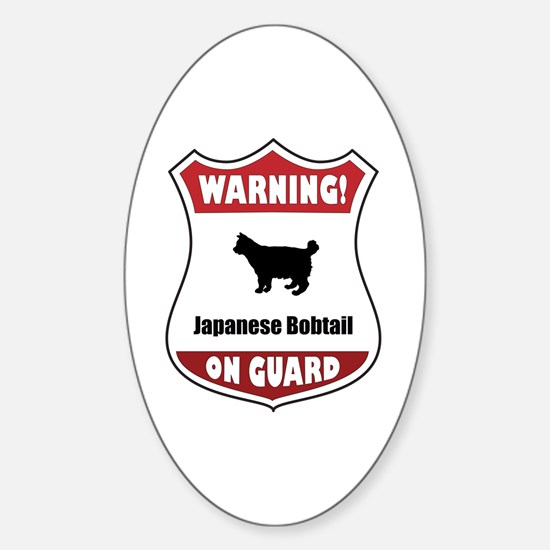 Bobtail On Guard Oval Decal