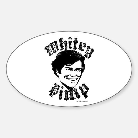 Whitey Pimp ~ Oval Decal