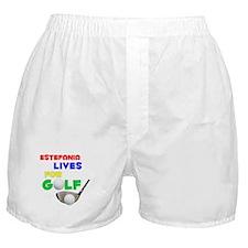 Estefania Lives for Golf - Boxer Shorts