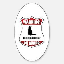 Shorthair On Guard Oval Decal