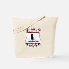 Shorthair On Guard Tote Bag