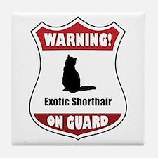 Shorthair On Guard Tile Coaster