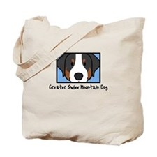 Anime Greater Swiss Mountain Dog Tote Bag