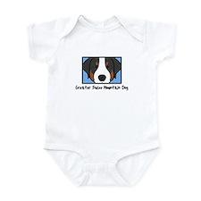 Anime Greater Swiss Mountain Dog Baby Bodysuit