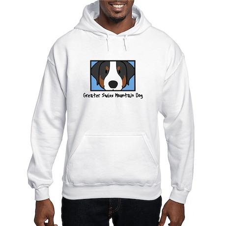 Anime Greater Swiss Mountain Dog Hooded Sweatshirt