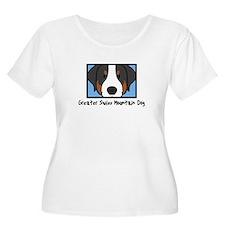 Anime Greater Swiss Mountain Dog Women's Plus Tee