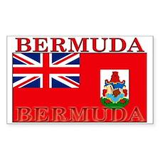 Bermuda Flag Rectangle Decal