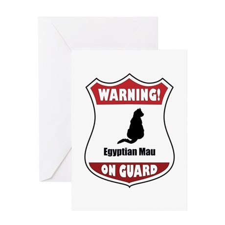 Mau On Guard Greeting Card