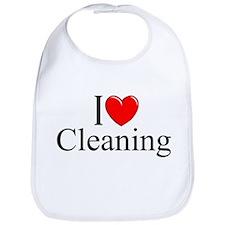 """I Love Cleaning"" Bib"