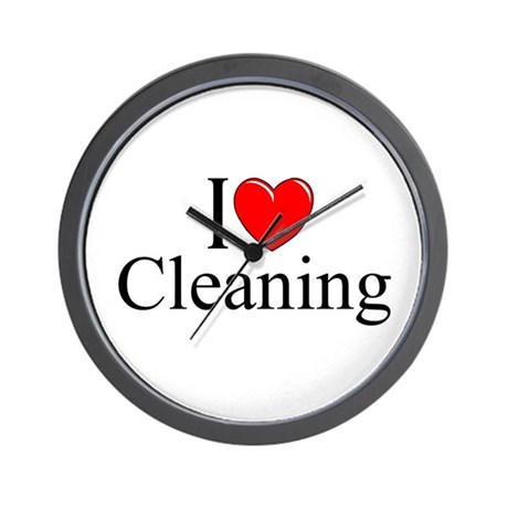 """I Love Cleaning"" Wall Clock by ILoveGiftShop"