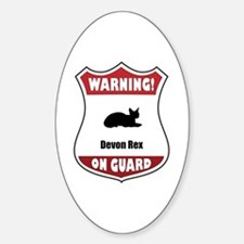 Devon On Guard Oval Decal