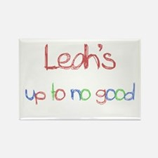 Leah's Up To No Good Rectangle Magnet