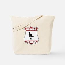 Cat On Guard Tote Bag
