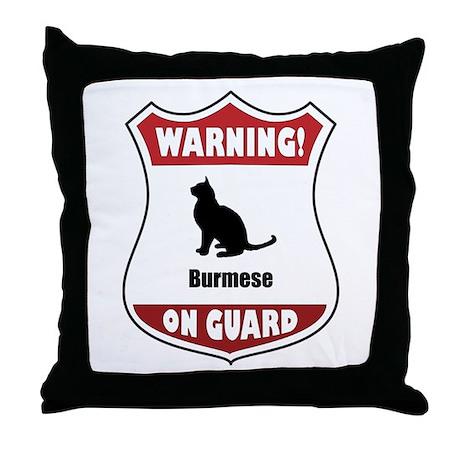 Burmese On Guard Throw Pillow