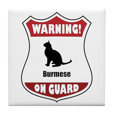 Burmese On Guard Tile Coaster