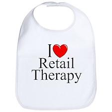 """I Love Retail Therapy"" Bib"