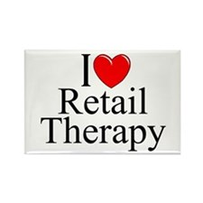 """I Love Retail Therapy"" Rectangle Magnet"