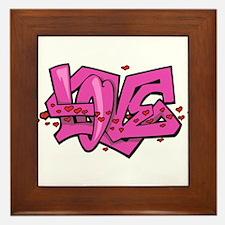 Graffiti Love Framed Tile