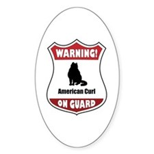Curl On Guard Oval Decal