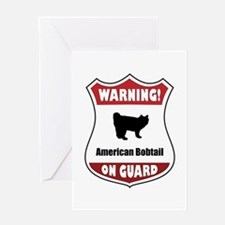 Bobtail On Guard Greeting Card