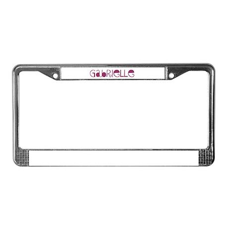 Gabrielle License Plate Frame