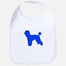Poodle Blue 1C Bib