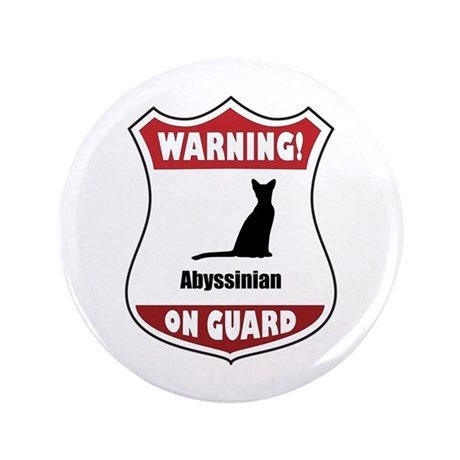 """Abyssinian On Guard 3.5"""" Button (100 pack)"""