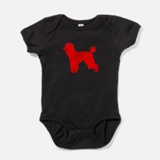 Poodle Red 1 Dark Baby Bodysuit