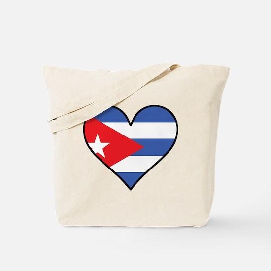 Cuban Flag Heart Tote Bag
