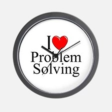 """I Love Problem Solving"" Wall Clock"