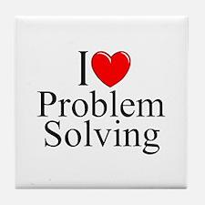 """""""I Love Problem Solving"""" Tile Coaster"""