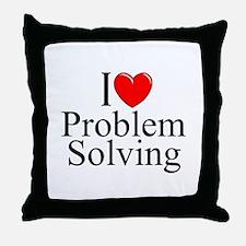 """I Love Problem Solving"" Throw Pillow"