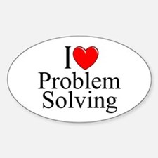 """I Love Problem Solving"" Oval Decal"
