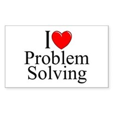 """""""I Love Problem Solving"""" Rectangle Decal"""