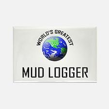 World's Greatest MUD LOGGER Rectangle Magnet