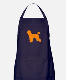 Poodle Orange 1 Dark Apron (dark)