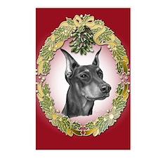 Doberman Pinscher Christmas Postcards (Package of