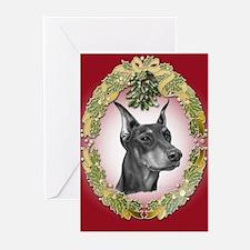 Doberman Pinscher Christmas Greeting Cards - 20 pk