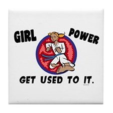 Girl Power Tile Coaster