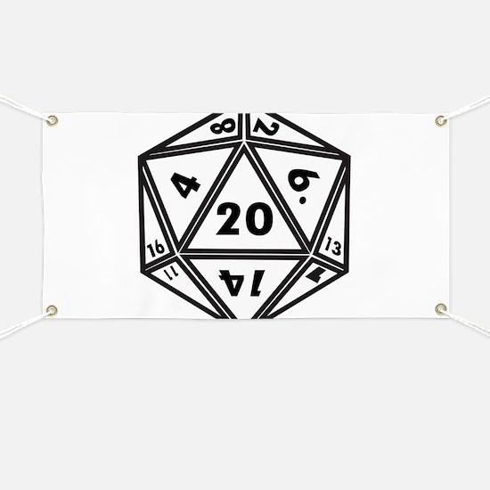 D20 White Banner