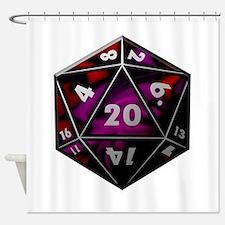 D20 color Shower Curtain