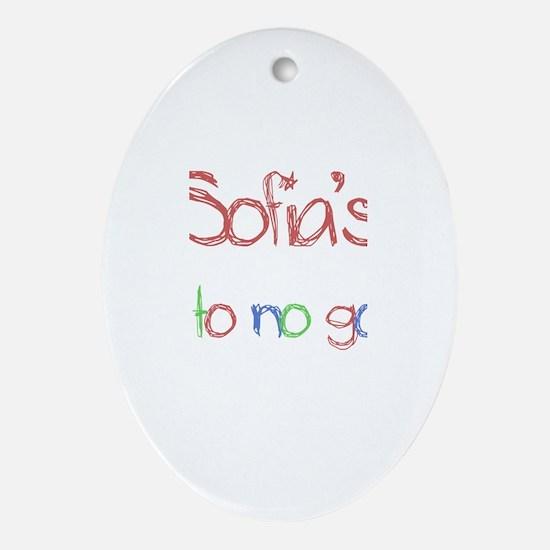 Sofia's Up To No Good Oval Ornament