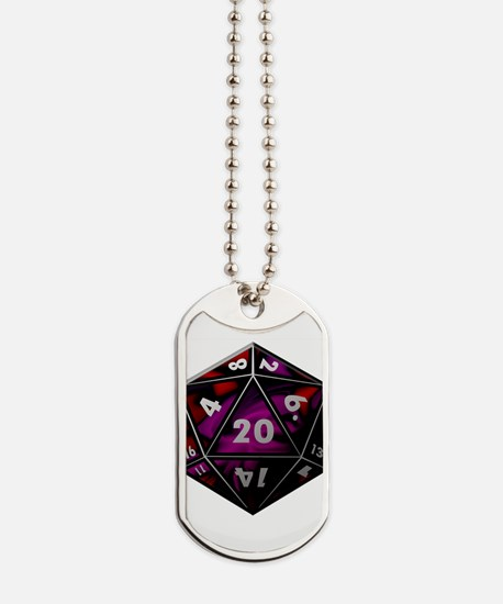 D20 color Dog Tags