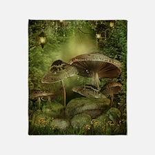 Enchanted Mushrooms Throw Blanket