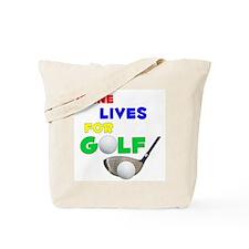 Irene Lives for Golf - Tote Bag