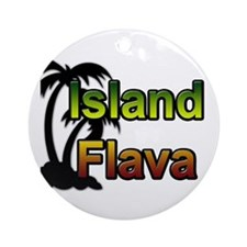 Island Flava Ornament (Round)