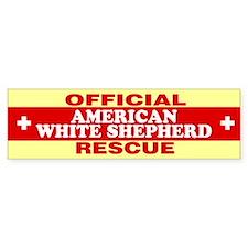 AMERICAN WHITE SHEPHERD Bumper Bumper Sticker