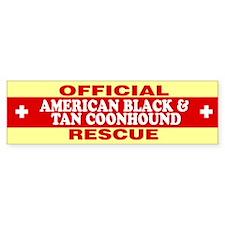 AMERICAN BLACK AND TAN COONHOUND Bumper Bumper Sticker